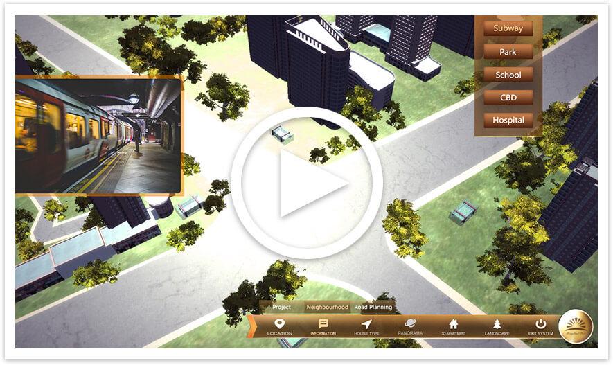 发现关键信息、附近的停车场、地铁、餐厅等。